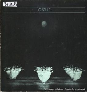 Hamburgische Staatsoper, Christoph von Dohnanyi, Seipt Angelus Programmheft zur Aufführung Giselle ( Premiere 23. Juni 1983 )