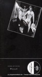 Landestheater Linz, Kammerspiele, Roman Zeilinger, Kern Georg Programmheft Woyzeck. Fragment von Georg Büchner. Premiere 23. Februar 1997. Spielzeit 1996 / 97 Heft 12