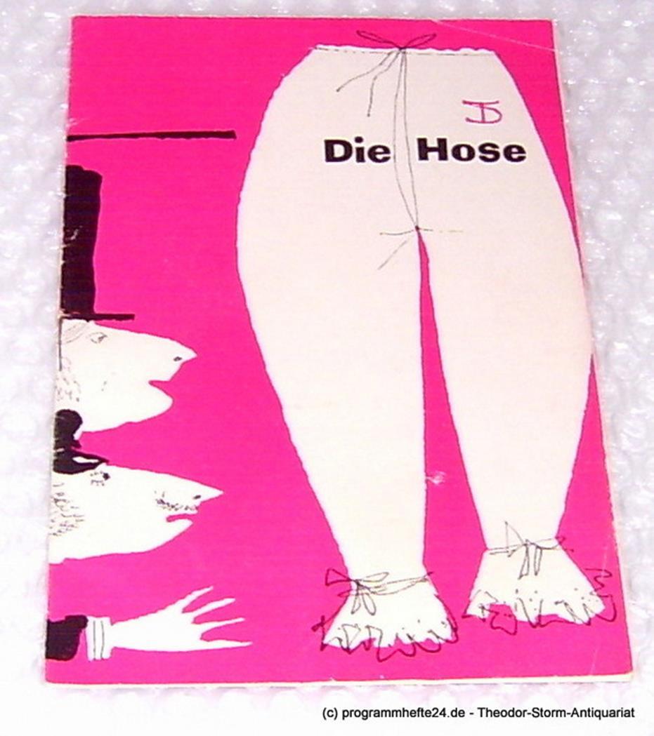 Deutsches Theater, Staatstheater, Kammerspiele, Wolfgang Langhoff Programmheft Die Hose. Bürgerliches Lustspiel von Carl Sternheim. 1960 / 61 Heft 4 0
