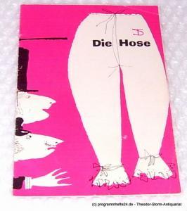 Deutsches Theater, Staatstheater, Kammerspiele, Wolfgang Langhoff Programmheft Die Hose. Bürgerliches Lustspiel von Carl Sternheim. 1960 / 61 Heft 4