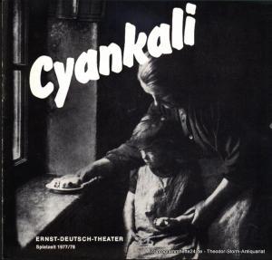 Ernst Deutsch Theater, Friedrich Schütter, Wolfgang Borchert Programmheft Cyankali. Schauspiel von Friedrich Wolf. Premiere 23. Februar 1978. Spielzeit 1977 / 78