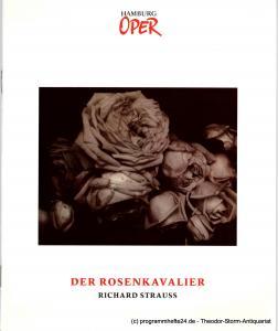 Hamburg Oper, Hamburgische Staatsoper, Annedore Cordes, Sabine Schröder Programmheft zur Neueinstudierung Der Rosenkavalier am 20. September 1992