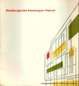 Hamburgische Staatsoper, Heinz Knorr Programmheft Programm der Hamburgischen Staatsoper 11. Heft 1966 / 67