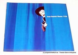 Ernst-Deutsch-Theater, Friedrich Schütter, Wolfgang Borchert, Henry-E. Simmon, Hans-Peter Kurr Programmheft Ernst-Deutsch-Theater 79 / 80