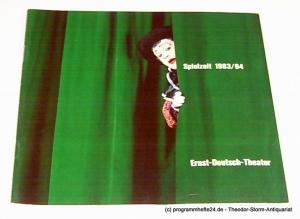 Ernst-Deutsch-Theater, Friedrich Schütter, Wolfgang Borchert, Hans-Peter Kurr, Andrea Weitzel, u.a. Programmheft Ernst-Deutsch-Theater 1983 / 84