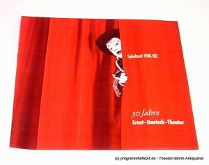 Ernst-Deutsch-Theater, Friedrich Schütter, Wolfgang Borchert, Hans-Peter Kurr Programmheft Ernst-Deutsch-Theater 1981 / 82