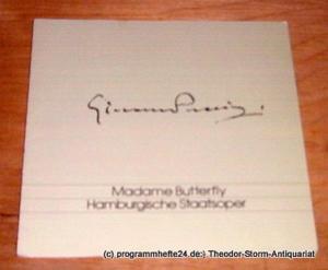 Hamburgische Staatsoper Programmheft Madame Butterfly. Oper von Giacomo Puccini. Freitag 5. April 1991