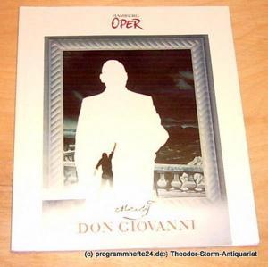 Hamburgische Staatsoper, Wulf Konold, Annedore Cordes Programmheft zur Premiere Don Giovanni am 1. September 1996