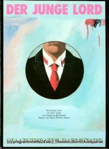 Staatstheater Darmstadt, Peter Brenner, Ludwig Baum Programmheft Der junge Lord. Komische Oper von Ingeborg Bachmann. Premiere 16. September 1984. Programmbuch 3