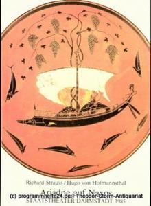 Staatstheater Darmstadt, Peter Brenner, Ludwig Baum Programmheft Ariadne auf Naxos. Oper von Hugo von Hofmannsthal. Premiere 24. Februar 1985. Programmbuch Nr. 12. Mit Libretto