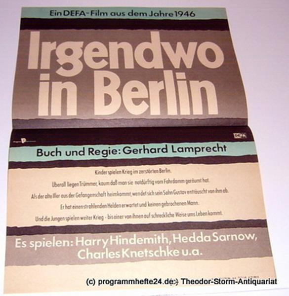 DEFA Filmplakat Irgendwo in Berlin 0
