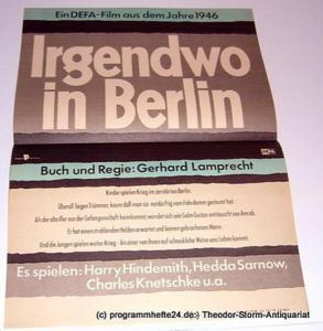 DEFA Filmplakat Irgendwo in Berlin