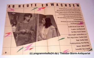 DEFA Gruppe Berlin Filmplakat Ab heute erwachsen