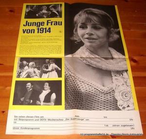 DEFA-Studio für Spielfilme. Ein Film des Deutschen Fernsehfunks in Farbe Filmplakat Junge Frau von 1914