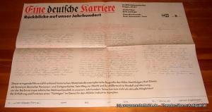 DEFA-Dokumentarfilm Gruppe Effekt Filmplakat Eine deutsche Karriere. Rückblicke auf unser Jahrhundert