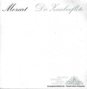 Sächsische Staatsoper Dresden, Semperoper, Christoph Albrecht, Hella bartnig Programmheft Die Zauberflöte. Spielzeit 2001 / 2002