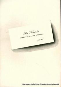 Die Komödie, Direktion Hans Wölffer, Brigitte Wenkel Programmheft Wolken sind überall. Komödie von F. Hugh Herbert. Spielzeit 1960 / 61