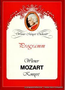 Wiener Mozart Orchester, Karl Berger, Gerald Grünbacher Programmheft Wiener Mozart Konzert