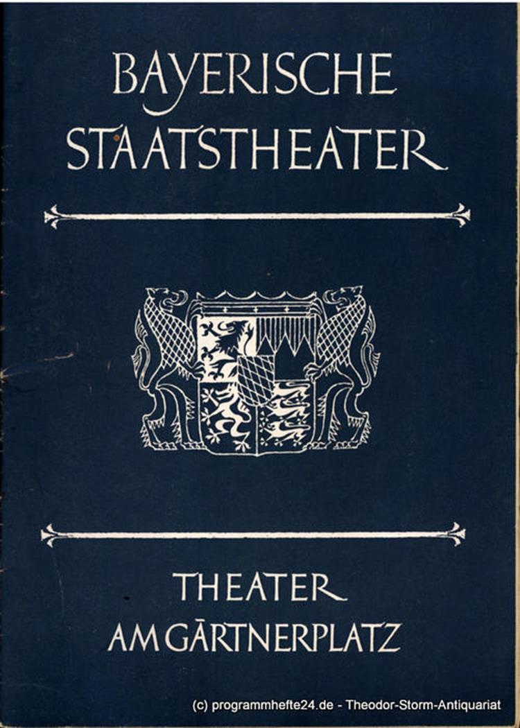 Bayerische Staatstheater Theater Am Gärtnerplatz Rudolf Hartmann
