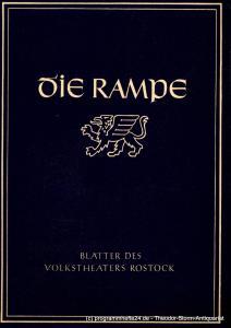 Volkstheater Rostock, Hanns Anselm Perten, Hans Fetting Programmheft TOSCA. Musikdrama nach V. Sardou. Die Rampe. Blätter des Volkstheaters Rostocl Heft 10 1954 / 1955
