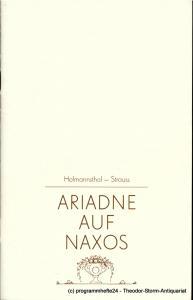 Staatsoper Dresden, Semperoper, Eginhard Röhlig, Ekkehard Walter Programmheft Ariadne auf Naxos. Wiederaufnahme am 21. Juni 1985