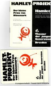 Theater der Jungen Generation, Gunild Lattmann, Doris Kepper, Manuel Schöbel, Axel Richter Programmheft Hamlet Projekt. Spielzeit 1986 / 87 Heft Nr. 1 und 2