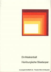 Hamburgische Staatsoper, August Everding Programmheft Ein Maskenball. Oper von Antonio Somma. 6. Mai 1977