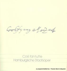 Hamburgische Staatsoper, Kurt Horres, Peter Dannenberg Programmheft Cosi fan tutte osia La Scola degli amanti. Opera buffa von Wolfgang Amadeus Mozart