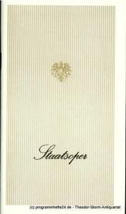 Österreichischer Bundestheaterverband, Direktion der Staatsoper Wien, Lothar Knessl Programmheft Bizet: CARMEN. Premiere 9. Dezember 1978 Staatsoper Wien. Spielzeit 1978 / 79