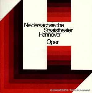Niedersächsische Staatstheater Hannover, Opernhaus, Günter Roth, Raffael Nedomansky Programmheft TOSCA. Sonnabend 10. September 1977