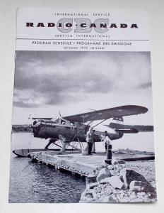 Canadian Broadcasting Corporation Programmheft CBC Radio Canada International Service. Program Schedule September 1959
