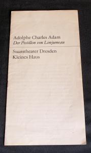 Staatstheater Dresden, Hans Dieter Mäde, Staatsoper Dresden, Dieter Uhrig Programmheft Der Postillon von Lonjumeau. Spielzeit 1969 / 70