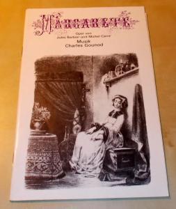Deutsche Staatsoper Berlin, Werner Otto Programmheft MARGARETE Premiere 11. Mai 1977
