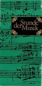 Konzert- und Gastspieldirektion Karl-Marx-Stadt Programmheft Stunde der Musik. Ruth Schob-Lipka, Alfred Lipka, Amadeus Webersinke