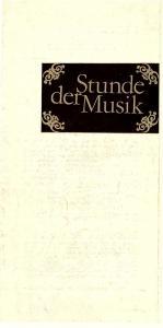 Konzert- und Gastspieldirektion Karl-Marx-Stadt Programmheft Stunde der Musik. CSSR / DDR Gemeinschaftsprogramm 1979