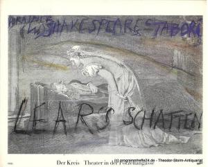 Theater der Kreis ( Theater in der Porzellangasse ) Programmheft LEARS SCHATTEN nach William Shakespeare. Premiere in Bregenz 22. Juli 1989