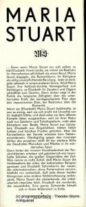 Staatstheater Dresden, Uta Gallert, Ekkehard Walter Programmheft Maria Stuart. Trauerspiel von Friedrich Schiller. Premiere 11. Juni 1980