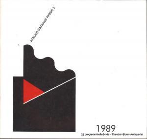 Stadt Rhede, Bockolter Borkener Volksblatt Atelier Rathaus Rhede 2 1989. Dokumentation über die Aktionswoche Atelier Rathaus Rhede 2