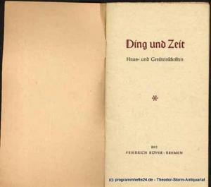 Rodewald Dierk M. Ding und Zeit. Haus- und Geräteinschriften