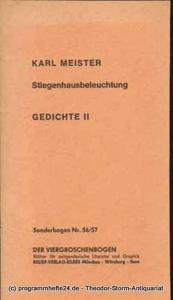 Meister Karl Stiegenhausbeleuchtung Gedichte II Sonderbogen Nr. 56/57 Der Viergroschenbogen