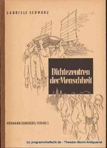 Schwarz Gabriele Dichtezentren der Menschheit. Die bewohnte Erde. Einführungen in die Kulturgeographie Nr. 2