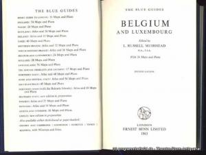 Muirhead L. Russell Belgium and Luxembourg. The Blue Guides
