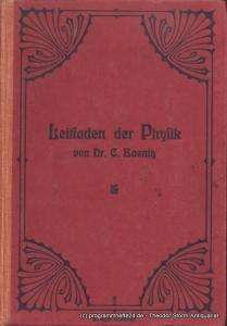 Baenitz C. Leitfaden für den Unterricht in der Physik. Nach methodischen Grundsätzen