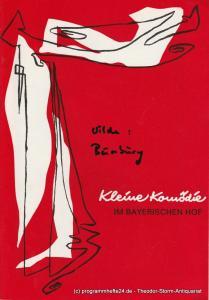 Kleine Komödie im Bayerischen Hof, Isebil Sturm, Gabriele Petersen Programmheft Bunbury. Komödie von Oscar Wilde. Heft 77 Ausgabe 1 Februar / März 1984