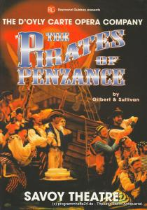The D'Oyly Carte Opera Company, Savoy Theatre, Stephen Waley-Cohen, Raymond Gubbay Programmheft The Pirates of Penzance or The Slave of Duty by Gilbert and Sullivan. Premiere 20. April 2001