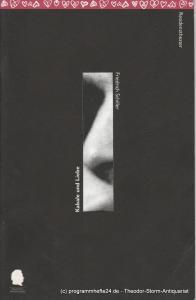 Bayerisches Staatsschauspiel, Residenztheater, Eberhard Witt, Bettina Schültke, Birgit Schreyer, Erika Fernschild ( Fotos ) Programmheft Kabale und Liebe. Premiere 21. September 1996. Heft Nr. 41 Spielzeit 1996 / 97