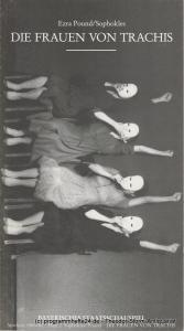 Bayerisches Staatsschauspiel, Cuvillies-Theater München, Günther Beelitz, Wilfried Hösl + Lore Bermbach ( Fotos ), Uwe B. Carstensen Programmheft DIE FRAUEN VON TRACHIS Spielzeit 1986 / 87 Heft 2