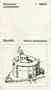 Rheinisches Landestheater Neuss, Gert Omar Leutner, Chris Burton, Gaby Rech Programmheft HAMLET von William Shakespeare Premiere 20.9.86 Spielzeit 1986 / 87 Heft 1