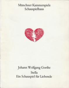 Münchner Kammerspiele, Dieter Dorn, Hans-Joachim Ruckhäberle, Hermann Malzer Programmheft STELLA von Johann Wolfgang Goethe. Premiere 14. Juli 1994 Schauspielhaus. Spielzeit 1990 / 91 Heft 5