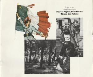 Bayerisches Staatsschauspiel, Kurt Meisel, Jörg-Dieter Haas, Otto König, Claus Seitz Programmheft ZINSEN DES RUHMS ( Les Marchands de Gloire ) Premiere 17. März 1983